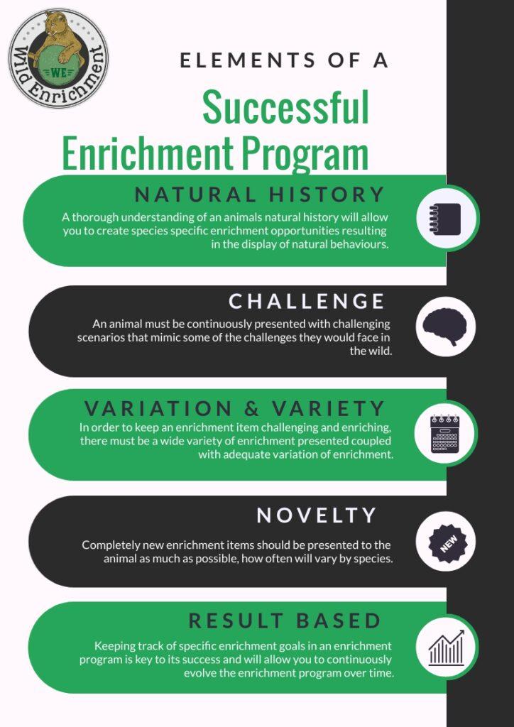Elements of a successful enrichment program.